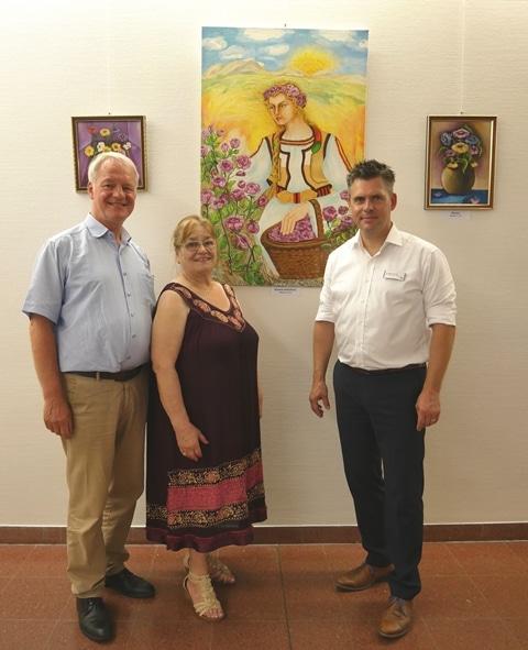 Christophorus Kliniken Ausstellung Kuenstlerin Bulgarien Katya Dimitrova Vasileva Foyer