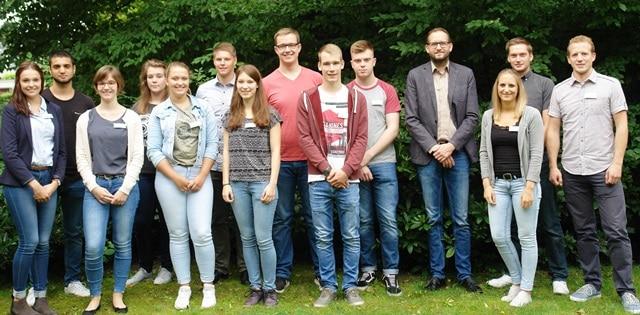 Gruppenfoto der neuen Auszubildenden 2017