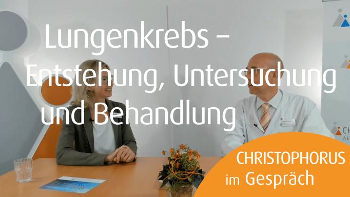 Christophorus im Gespraech Dr. Czudaj Welt-Lungen-Tag Lungenkrebs Informationen und Tipps