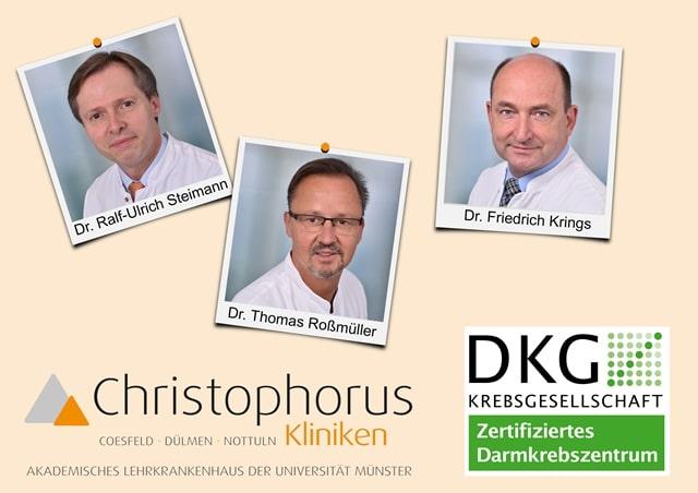 Christophorus-Kliniken Hohe Qualitaet des Darmzentrums wurde von Gutachter bestaetigt
